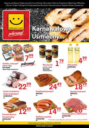 Gazetka promocyjna Uśmiechnięte Zakupy, ważna od 19.02.2019 do 04.03.2019.