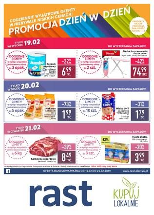 Gazetka promocyjna Rast, ważna od 19.02.2019 do 25.02.2019.