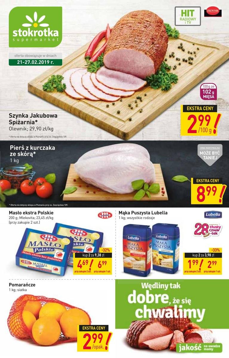 3dc6677094b0c6 Gazetka Stokrotka - Gazetka promocyjna - supermarket , strona 1, ważna od  2019-02