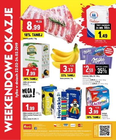 Gazetka promocyjna Twój Market, ważna od 20.02.2019 do 26.02.2019.