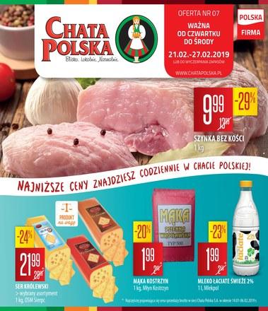 Gazetka promocyjna Chata Polska, ważna od 21.02.2019 do 27.02.2019.