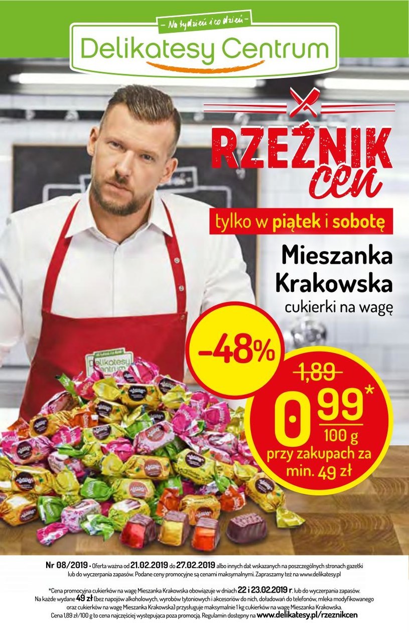 Gazetka promocyjna Delikatesy Centrum - ważna od 21. 02. 2019 do 27. 02. 2019