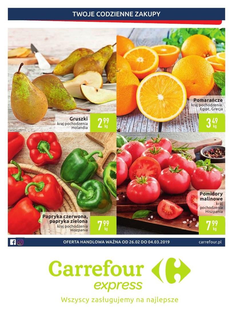 Gazetka promocyjna Carrefour Express - ważna od 26. 02. 2019 do 04. 03. 2019