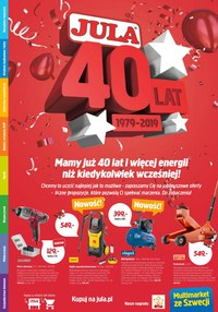 Gazetka promocyjna Jula - Mamy już 40 lat! - ważna do 24-03-2019