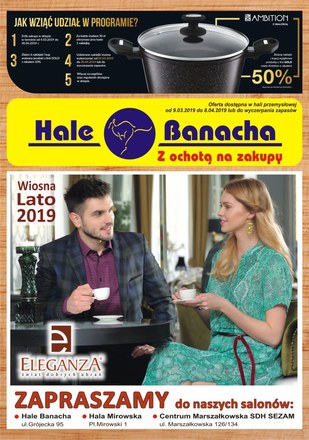 Gazetka promocyjna Hala Banacha, ważna od 09.03.2019 do 08.04.2019.