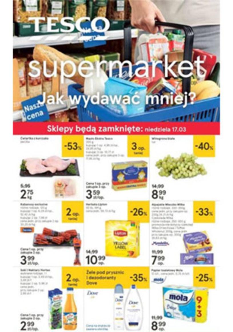 Gazetka promocyjna Tesco Supermarket - wygasła 2 dni temu