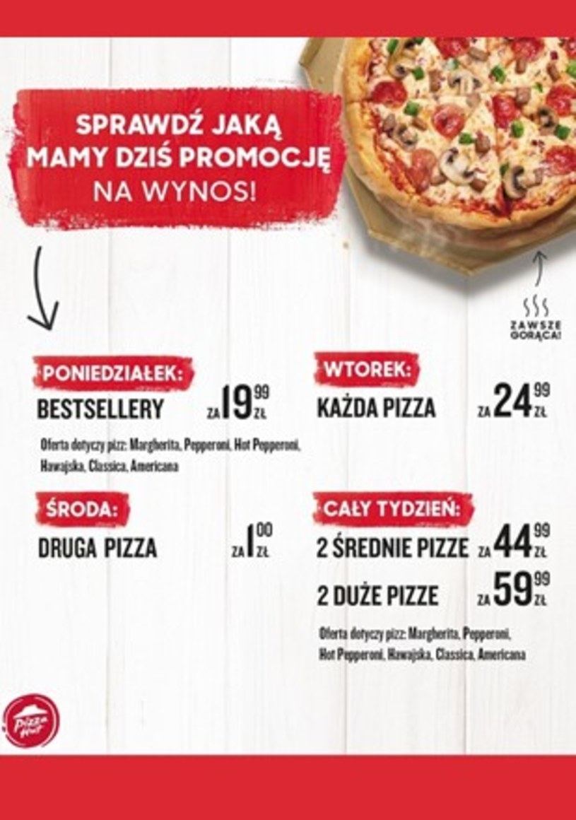 Pizza Hut: 2 gazetki