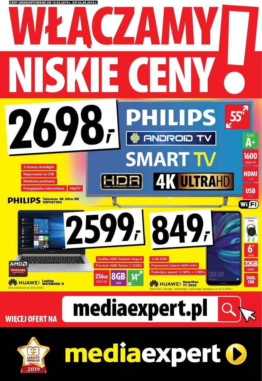Gazetka promocyjna Media Expert - ważna od 14. 03. 2019 do 03. 04. 2019