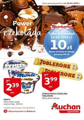 Gazetka promocyjna Auchan - Czeko power - supermarket