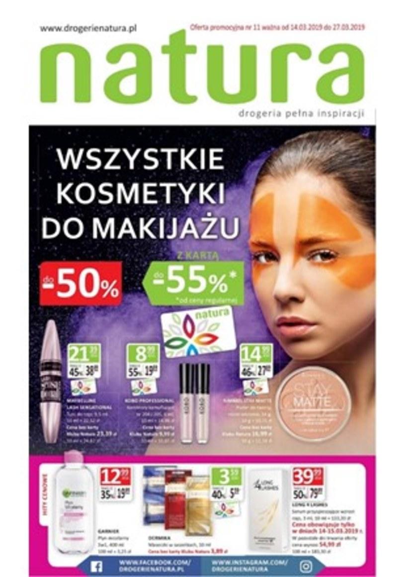 Gazetka promocyjna Drogerie Natura - ważna od 14. 03. 2019 do 27. 03. 2019