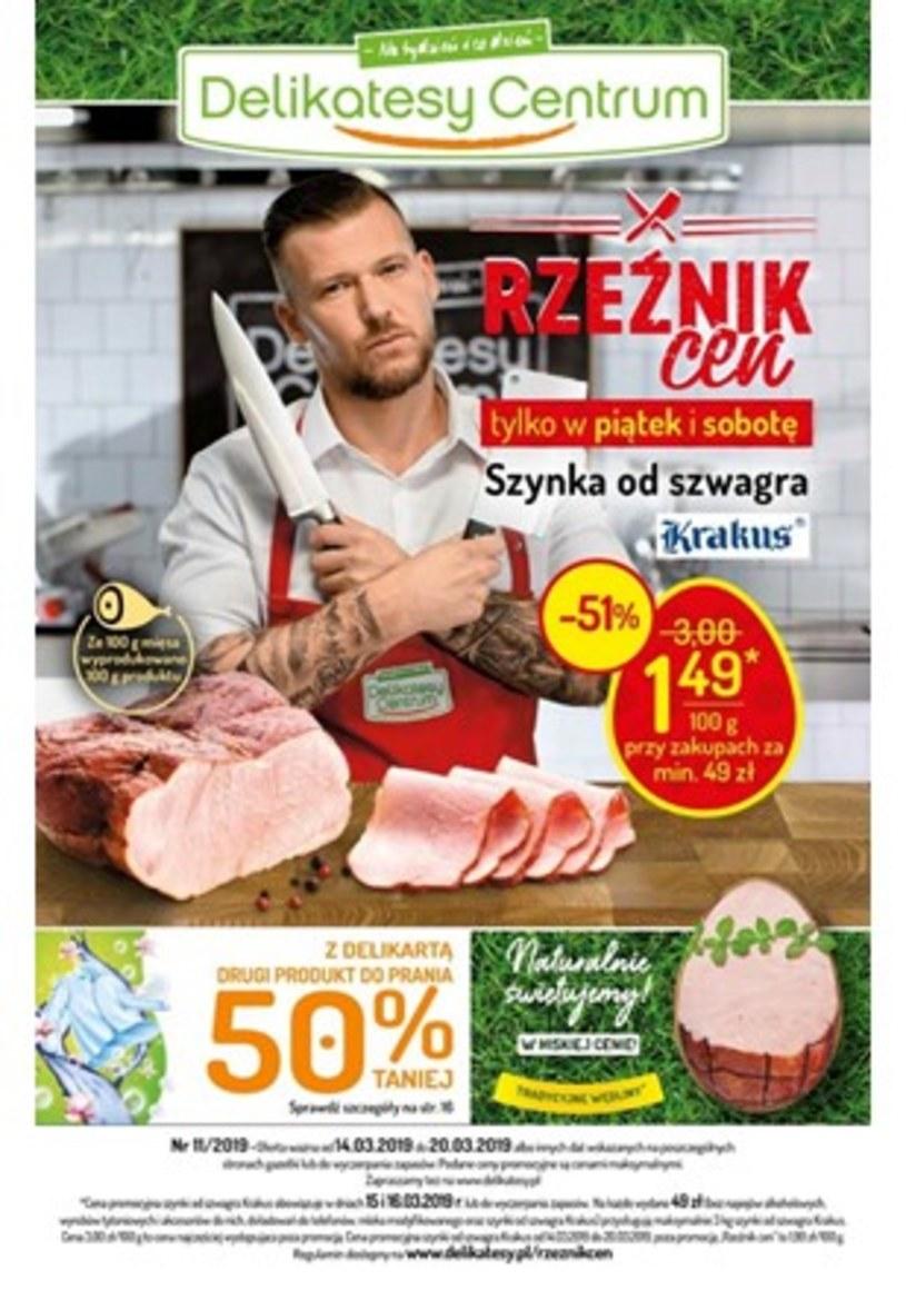 Gazetka promocyjna Delikatesy Centrum - ważna od 14. 03. 2019 do 28. 03. 2019