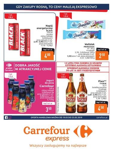 Gazetka promocyjna Carrefour Express, ważna od 19.03.2019 do 25.03.2019.
