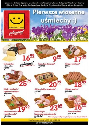 Gazetka promocyjna Uśmiechnięte Zakupy, ważna od 19.03.2019 do 01.04.2019.