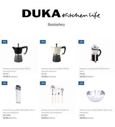 Gazetka promocyjna DUKA, ważna od 18.03.2019 do 30.04.2019.