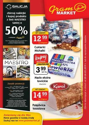 Gazetka promocyjna Gram Market, ważna od 20.03.2019 do 26.03.2019.