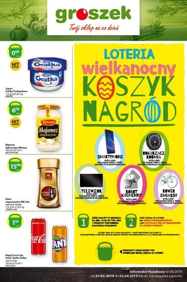 Gazetka promocyjna Groszek , ważna od 21.03.2019 do 02.04.2019.