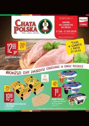 Gazetka promocyjna Chata Polska, ważna od 21.03.2019 do 27.03.2019.