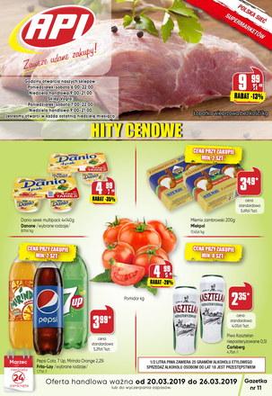 Gazetka promocyjna Api Market, ważna od 20.03.2019 do 26.03.2019.