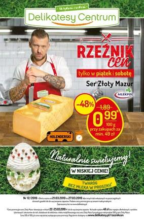Gazetka promocyjna Delikatesy Centrum, ważna od 21.03.2019 do 27.03.2019.