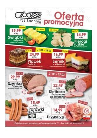 Gazetka promocyjna PSS Bochnia, ważna od 21.03.2019 do 27.03.2019.