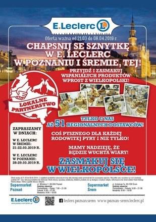 Gazetka promocyjna E.Leclerc, ważna od 21.03.2019 do 08.04.2019.