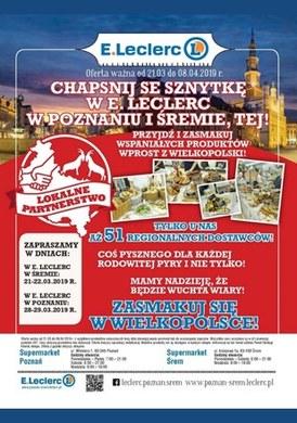 Gazetka promocyjna E.Leclerc - Zasmakuj się w Wielkopolsce!