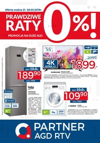 Gazetka promocyjna Partner AGD RTV  - Raty 0% - ważna do 28-03-2019