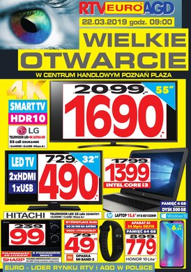 Gazetka promocyjna RTV EURO AGD - Wielkie otwarcie -Poznań