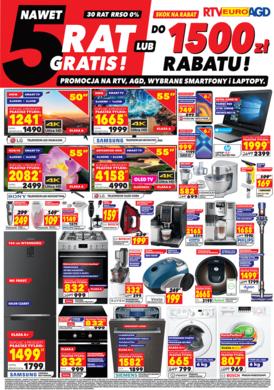 Gazetka promocyjna RTV EURO AGD - 5 rat gratis!