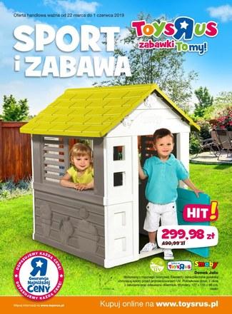 """Gazetka promocyjna Toys""""R""""Us, ważna od 22.03.2019 do 01.06.2019."""
