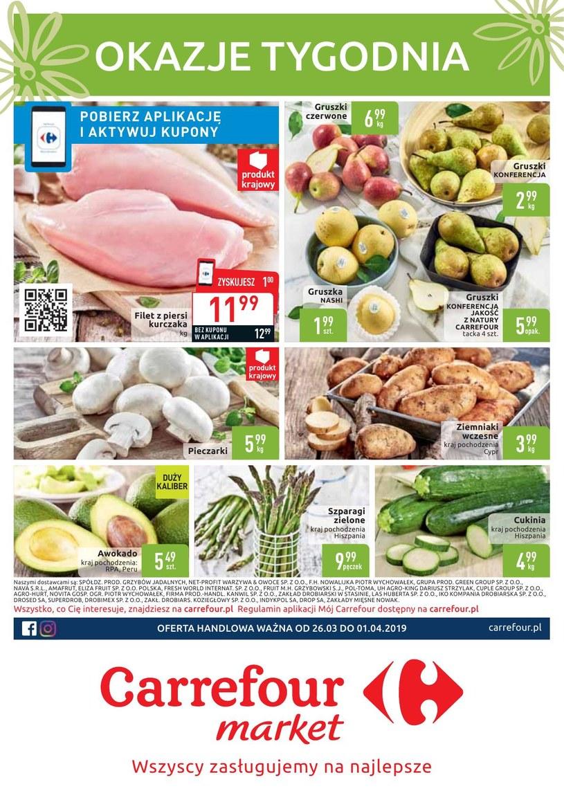 Gazetka promocyjna Carrefour Market - ważna od 26. 03. 2019 do 01. 04. 2019