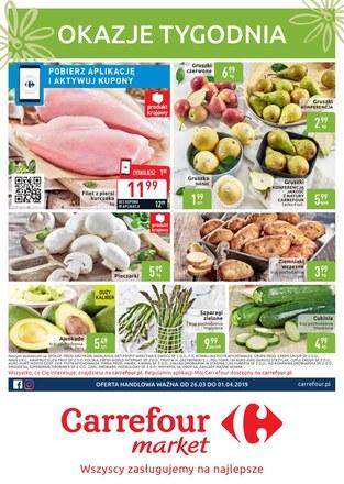 Gazetka promocyjna Carrefour Market, ważna od 26.03.2019 do 01.04.2019.