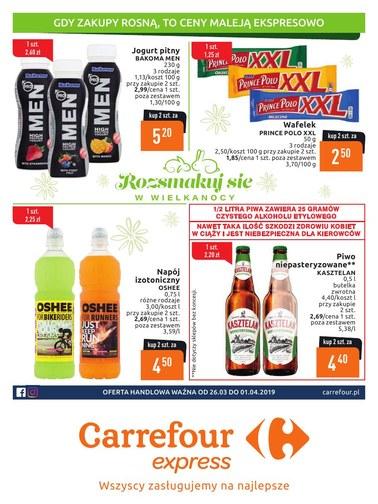 Gazetka promocyjna Carrefour Express, ważna od 26.03.2019 do 01.04.2019.