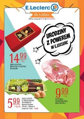 Gazetka promocyjna E.Leclerc - Urodziny z powerem - Lublin