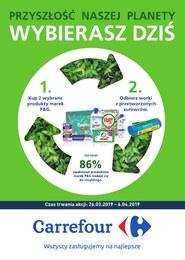 Gazetka promocyjna Carrefour - Przyszłość naszej planety  - ważna do 06-04-2019