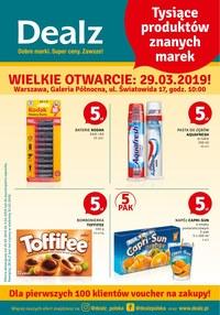 Gazetka promocyjna Dealz - Wielkie otwarcie - Warszawa - ważna do 03-04-2019
