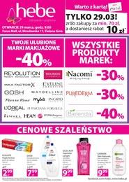 Gazetka promocyjna Hebe - Otwarcie - Zielona Góra  - ważna do 01-04-2019