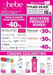 Gazetka promocyjna Hebe - Otwarcie - Warszawa - ważna do 01-04-2019