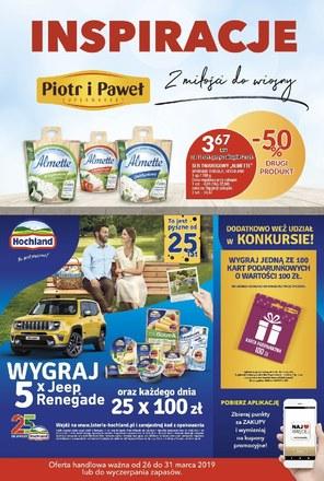 Gazetka promocyjna Piotr i Paweł, ważna od 26.03.2019 do 31.03.2019.
