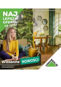 Gazetka promocyjna Leroy Merlin - Wiosenne nowości  - ważna do 22-04-2019