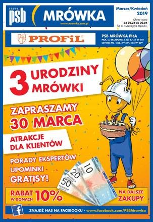 Gazetka promocyjna PSB Mrówka, ważna od 30.03.2019 do 20.04.2019.