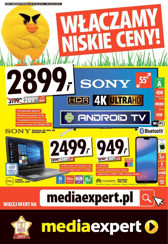 Gazetka promocyjna Media Expert - ważna od 04. 04. 2019 do 20. 04. 2019