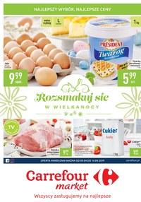 Gazetka promocyjna Carrefour Market - Rozsmakuj się w Wielkanocy  - ważna do 14-04-2019