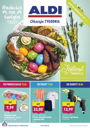 Gazetka promocyjna Aldi, ważna od 15.04.2019 do 20.04.2019.