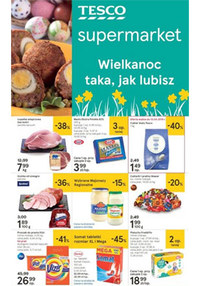 Gazetka promocyjna Tesco Supermarket - Wielkanoc taka, jak lubisz - supermarket - ważna do 20-04-2019