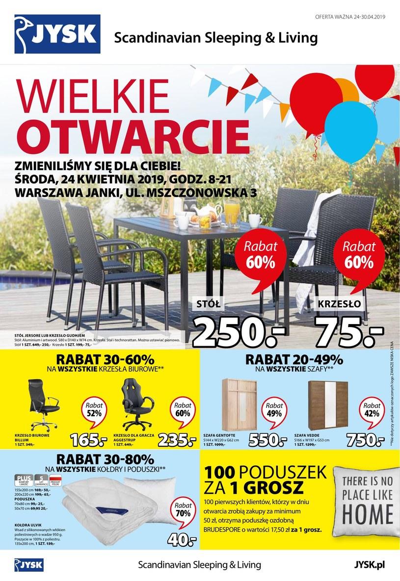 Gazetka promocyjna Jysk - ważna od 23. 04. 2019 do 30. 04. 2019