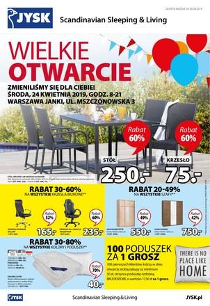 Gazetka promocyjna Jysk, ważna od 24.04.2019 do 30.04.2019.