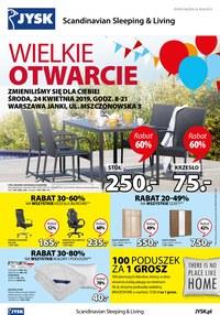 Gazetka promocyjna Jysk - Wielkie otwarcie- Warszawa Janki - ważna do 30-04-2019