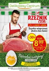 Gazetka promocyjna Delikatesy Centrum - Rzeźnik cen  - ważna do 15-04-2019