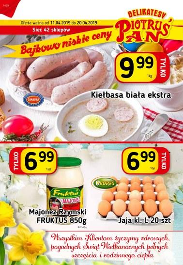Gazetka promocyjna Piotruś Pan, ważna od 11.04.2019 do 20.04.2019.